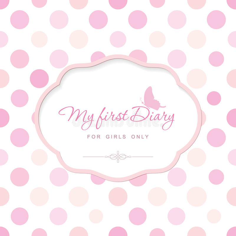 Cute Template For Notebook Cover For Girls My First Diary - dot paper template