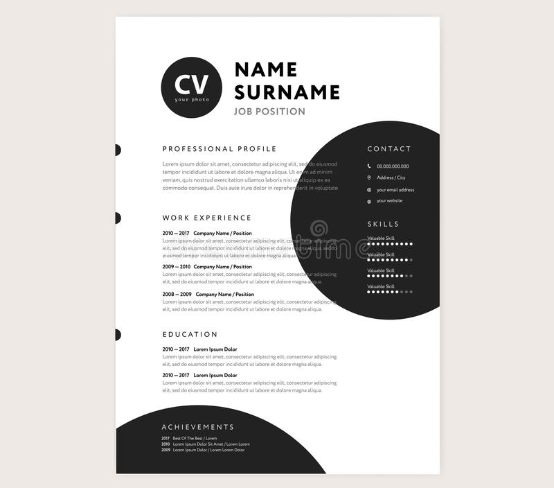 CV / Resume Template - Creative Stylish Curriculum Vitae Design