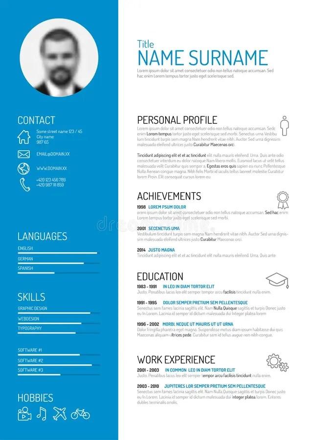 Cv / resume template stock vector Illustration of experience - 50593576 - cv resume templates