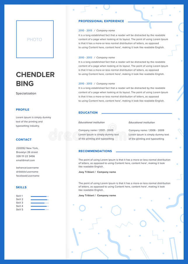 CV Template Minimalist Resume, Web Page, Job Application, Skills - resume presentation