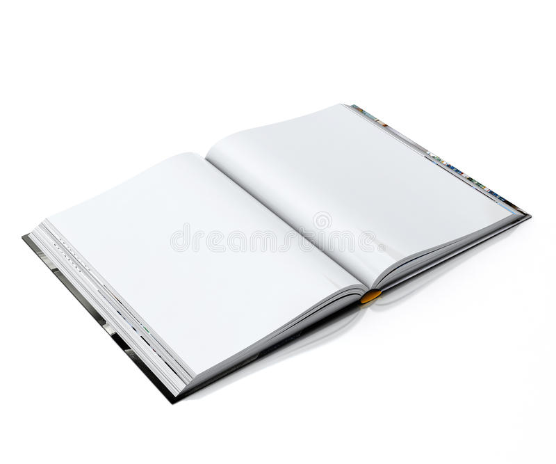 3d Blank White Opened Book Isolated On White Background Stock - opened book