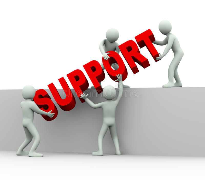 3d People - Concept Of Help And Support Stock Illustration - help and support