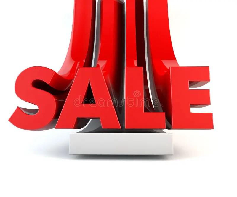 3D SALE word promotion red stock illustration Illustration of