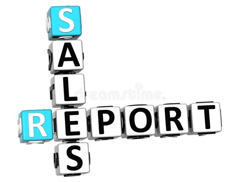 3D Sales Report Crossword stock image Image of calculation - 91850435