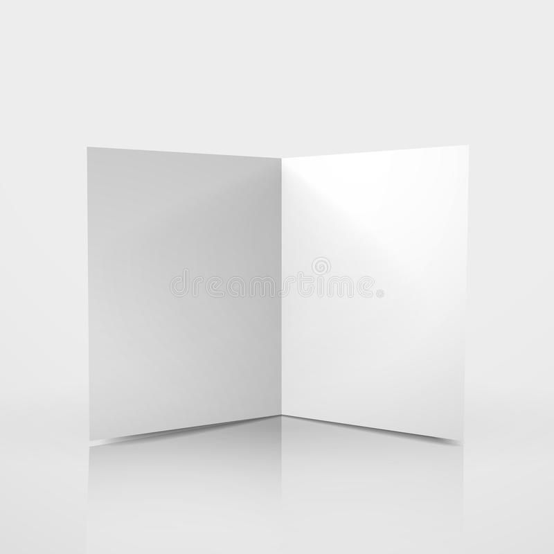3d Vector Blank Card Template Stock Vector - Illustration of blank