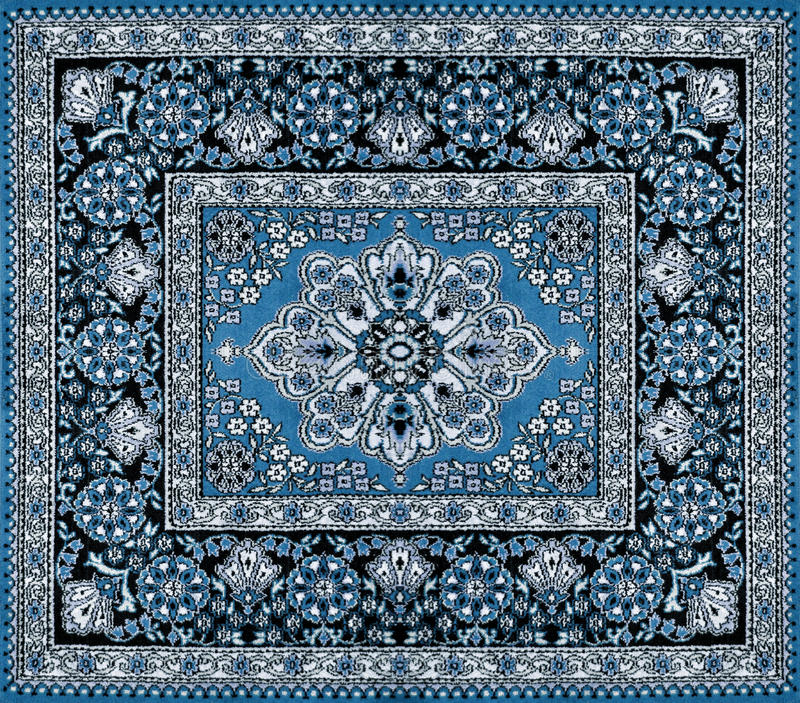 Persischer Vintage Teppich Dark Blue Persian Carpet Stock Image. Image Of Home