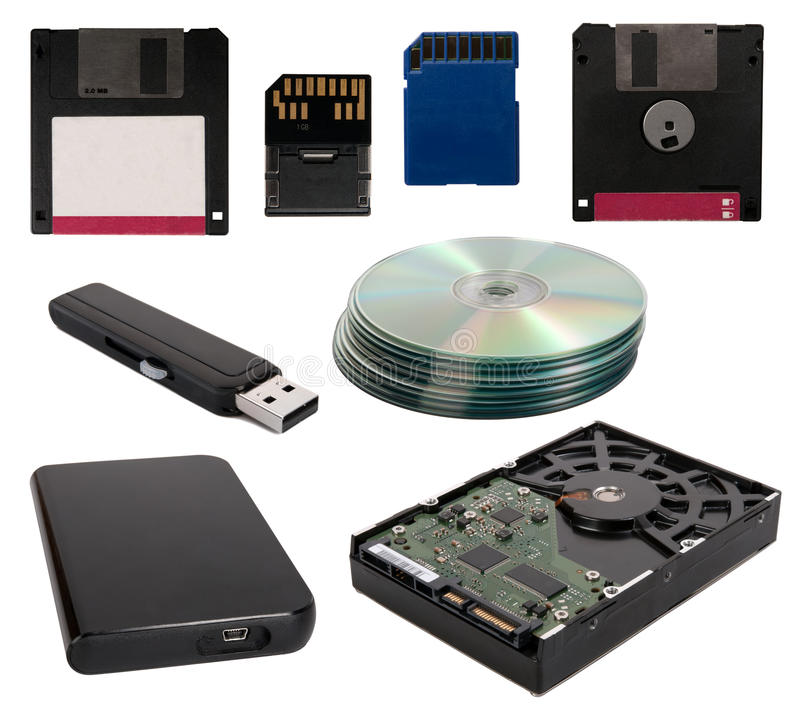 Data storage devices stock image Image of store, memory - 19652673