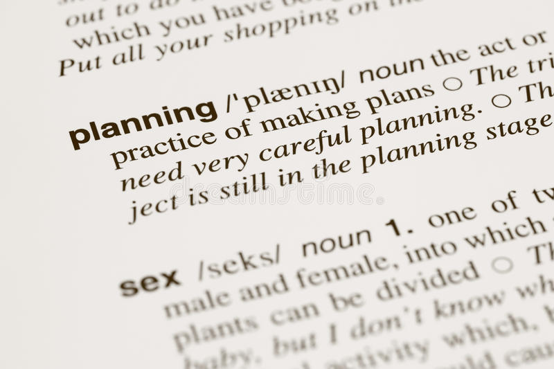 Definition Words Planning And Sex In Dictionary Stock Image - Image - tri words