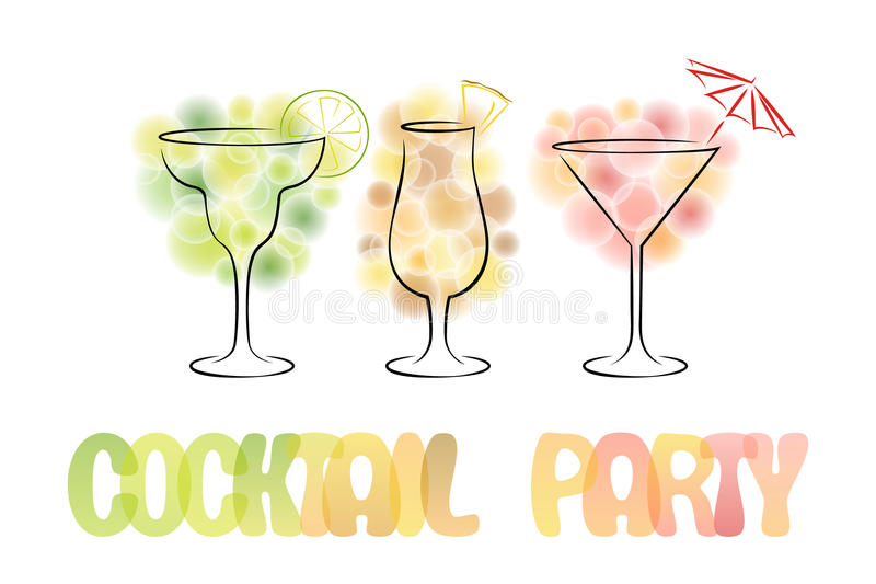 Design For Cocktail Party Invitation With Cocktails Stock Vector - invitation for cocktail party