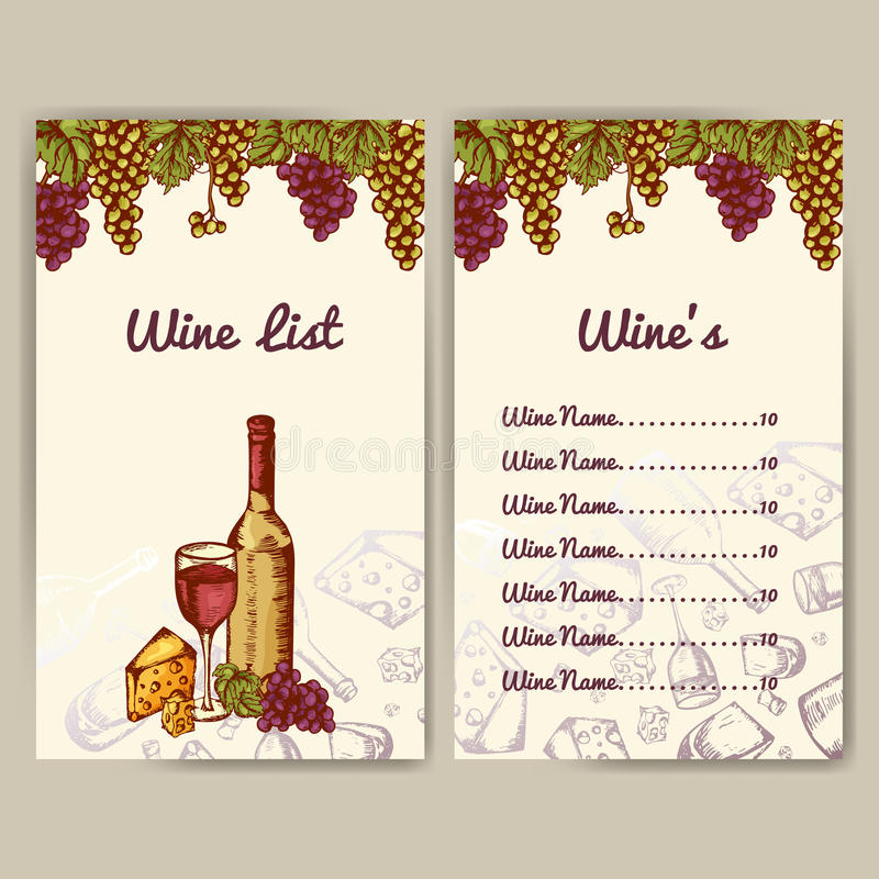 Fantastic Free Wine List Template Mold - Administrative Officer