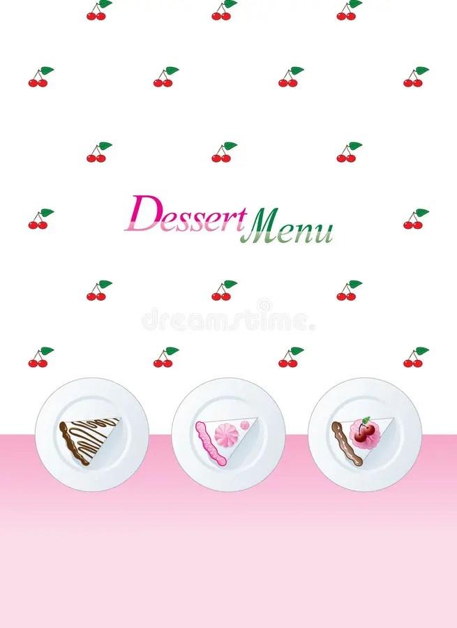 Dessert menu template stock vector Illustration of decor - 6727540