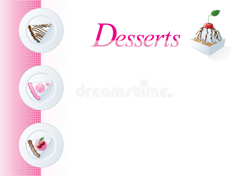 Dessert menu template stock vector Illustration of sponge - 6727551