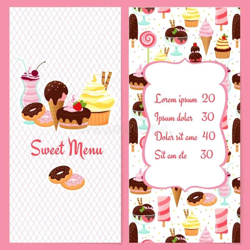 Dessert menu template stock vector Illustration of elements - 43620170