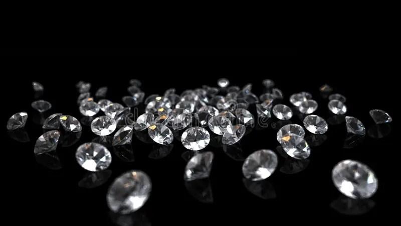 Falling Glitter Wallpaper Diamanten Auf Schwarzem Hintergrund Stock Abbildung Bild