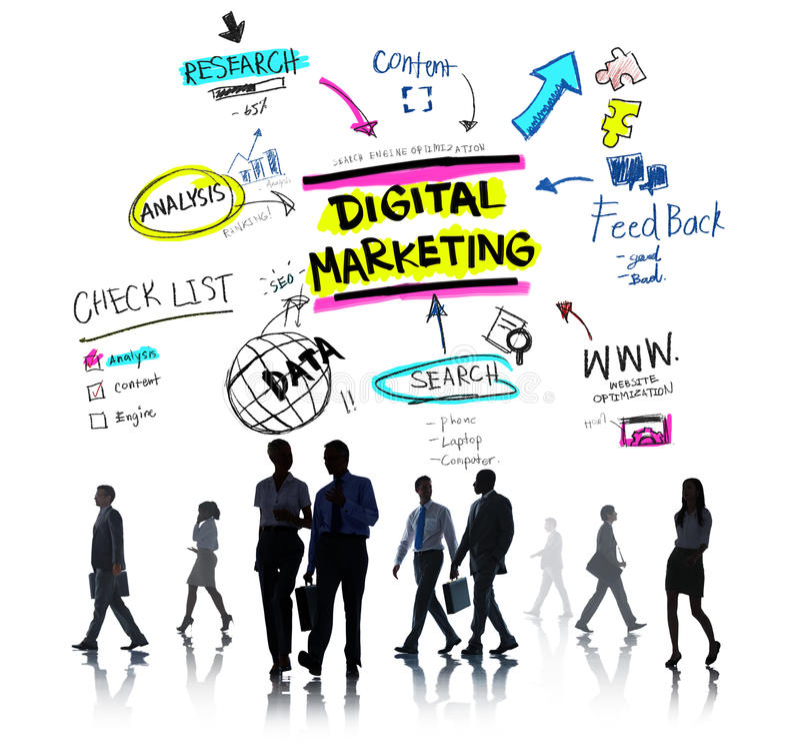 Digital Marketing Branding Strategy Online Media Concept Stock Image
