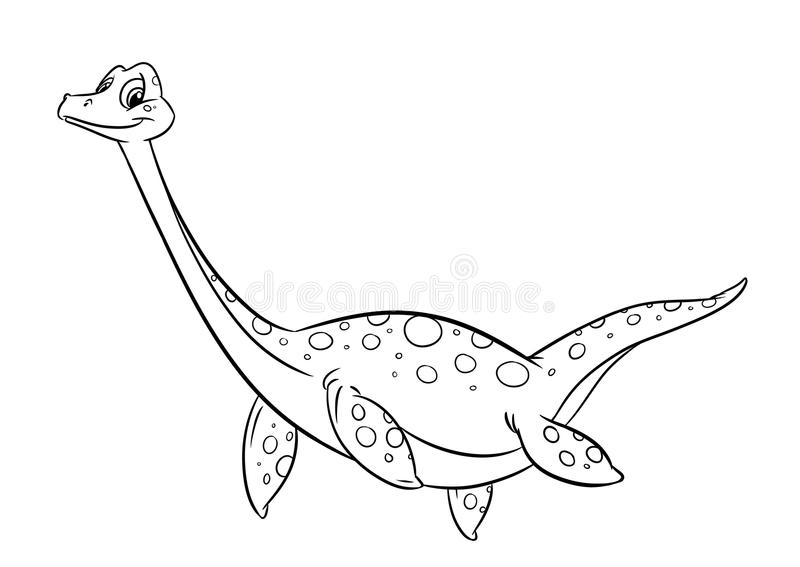 Dinosaur coloring pages stock illustration Illustration of cartoon - coloring dinosaur