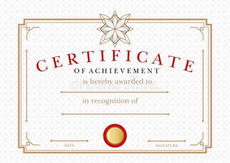 Certificate Of Achievement Certificate Of Achievement On Stocksmith - Diploma Wording