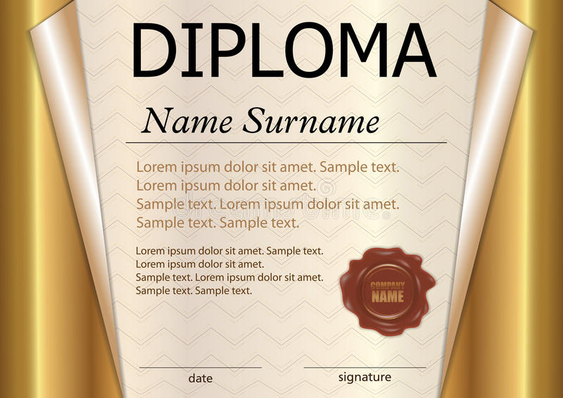 Diploma Or Certificate Template Award Winner Winning The Compe - Award Paper Template