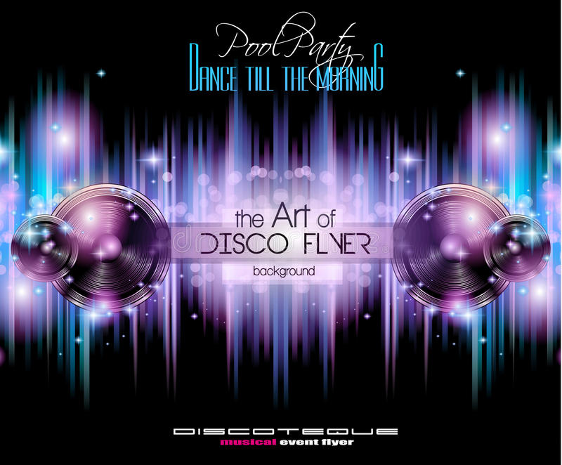 Disco Club Flyer Template For Your Music Nights Event Stock Vector - club flyer background