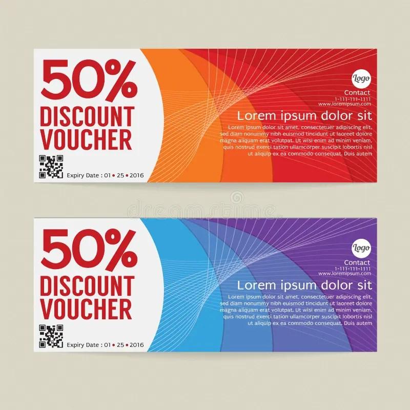 50 Discount Voucher Modern Template Design Stock Vector - discount voucher design