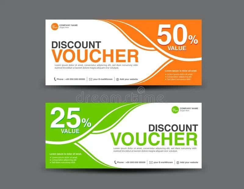Discount Voucher Template, Coupon Design,ticket, Card Design Stock