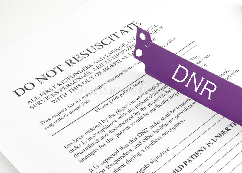 DNR Bracelet And Hospital Form Stock Image - Image of purple - dnr medical form