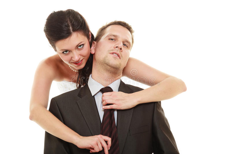 Dominant Bride With Husband Stock Photo Image 56140463