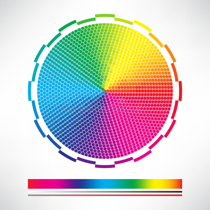 Dotted Color Chart Circle Vector Stock Vector - Illustration of