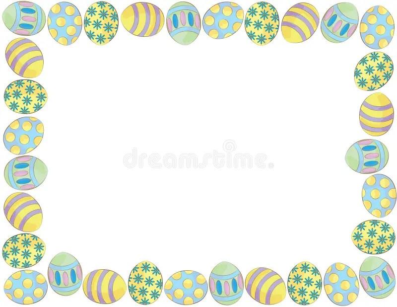 Easter Egg Border stock illustration Illustration of easter - 39167606