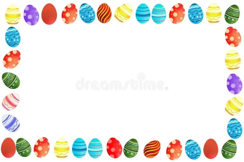 Easter eggs border stock illustration Illustration of clip - 13040401