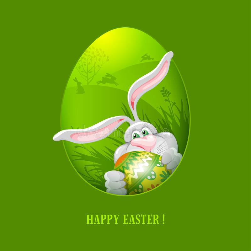 Easter Greeting Card Template Stock Vector - Illustration of