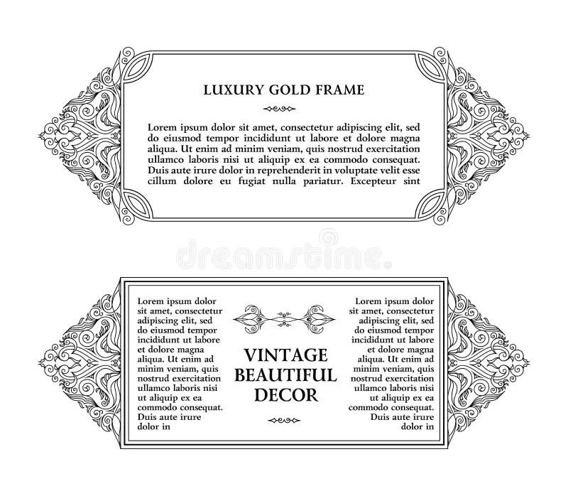 Eastern Gold Arabic Vector Lines Design Templates Muslim Floral