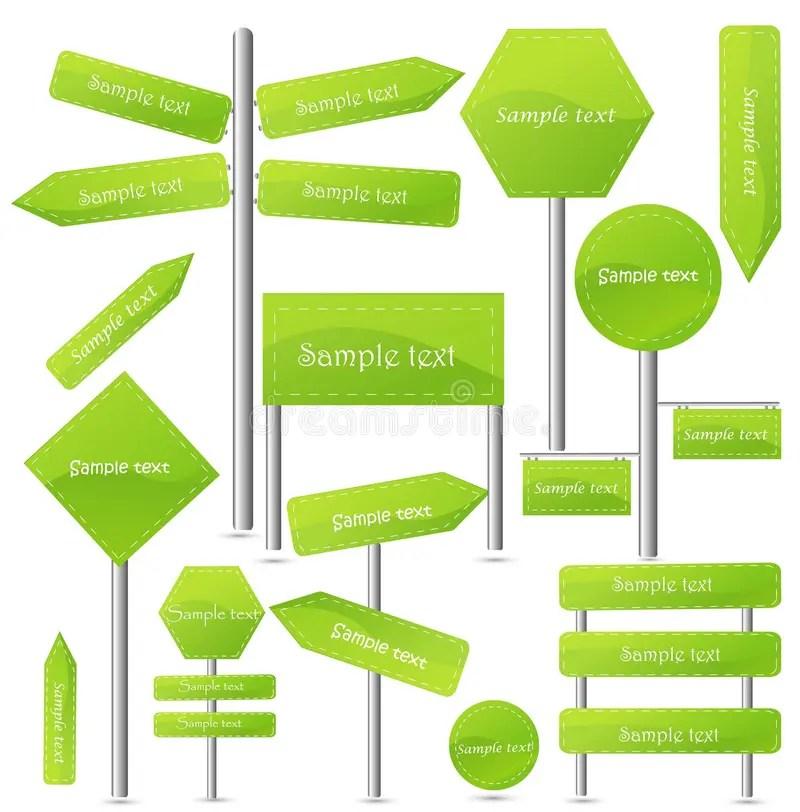 Editable street signs stock vector Illustration of arrow - 19664609 - editable signs