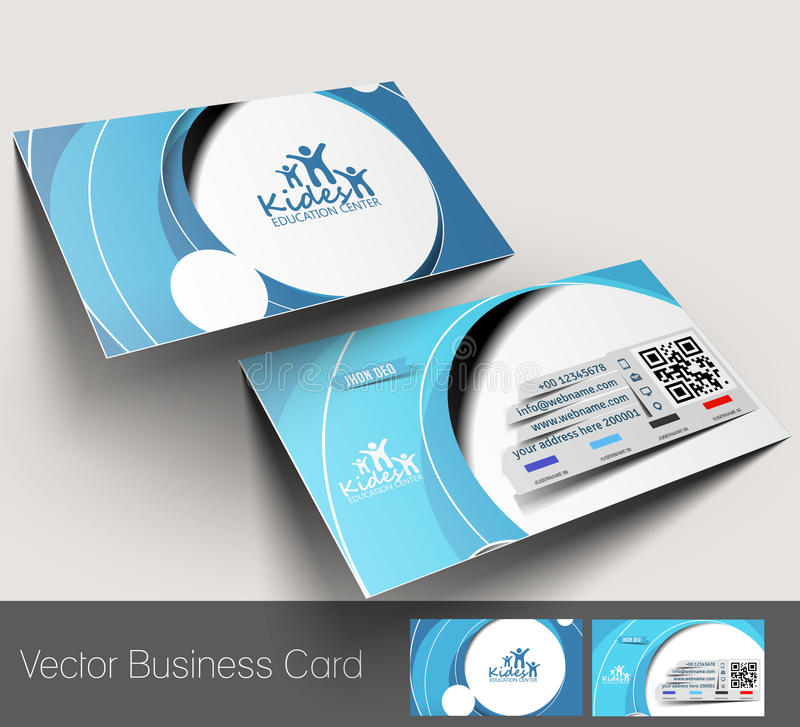 Education Center Business Card Stock Vector - Illustration of