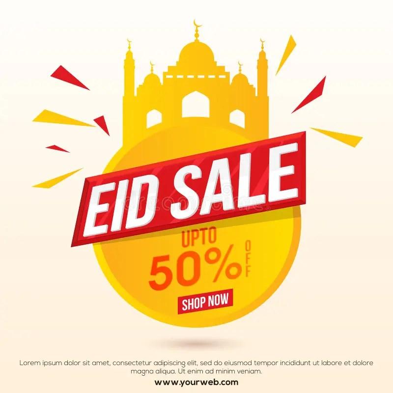 Eid Sale Poster, Banner Or Flyer Design Stock Illustration - sale poster design