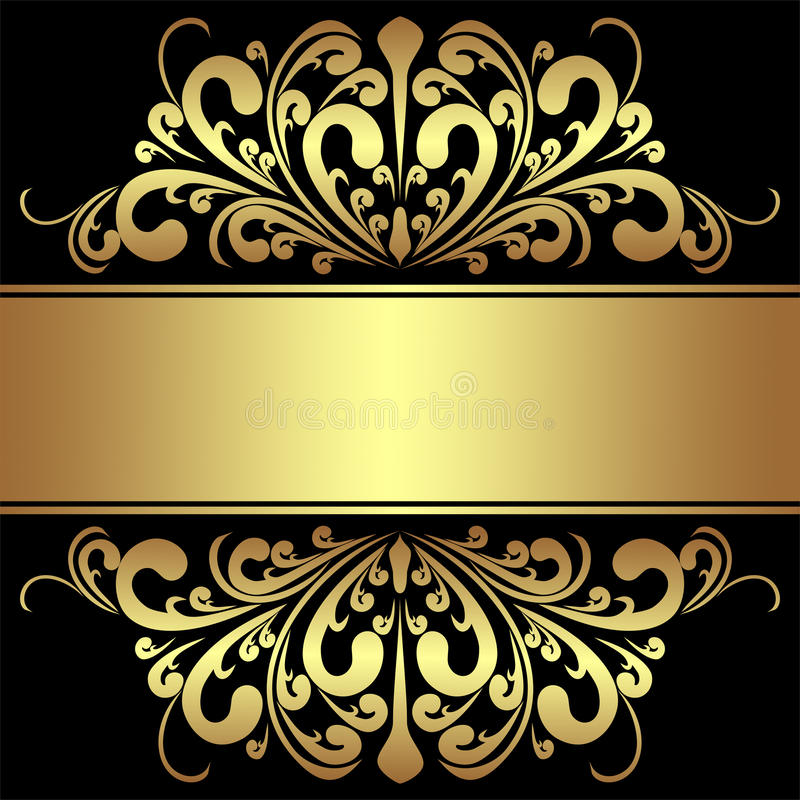 Fall Leaves Wallpaper Powerpoint Background Elegant Background With Royal Golden Borders And Ribbon
