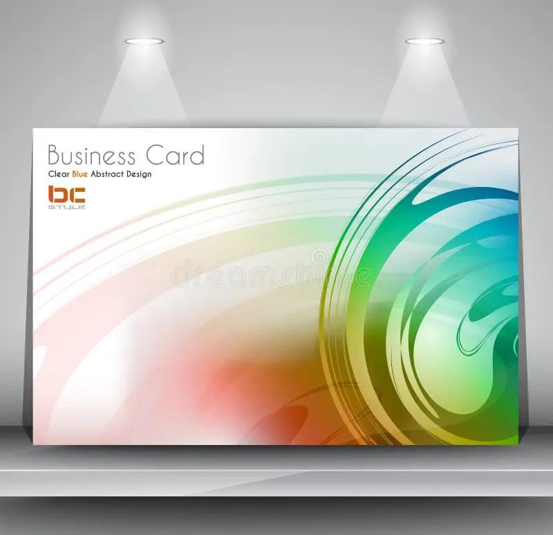 Elegant Business Card Design Template Stock Illustration - card design template