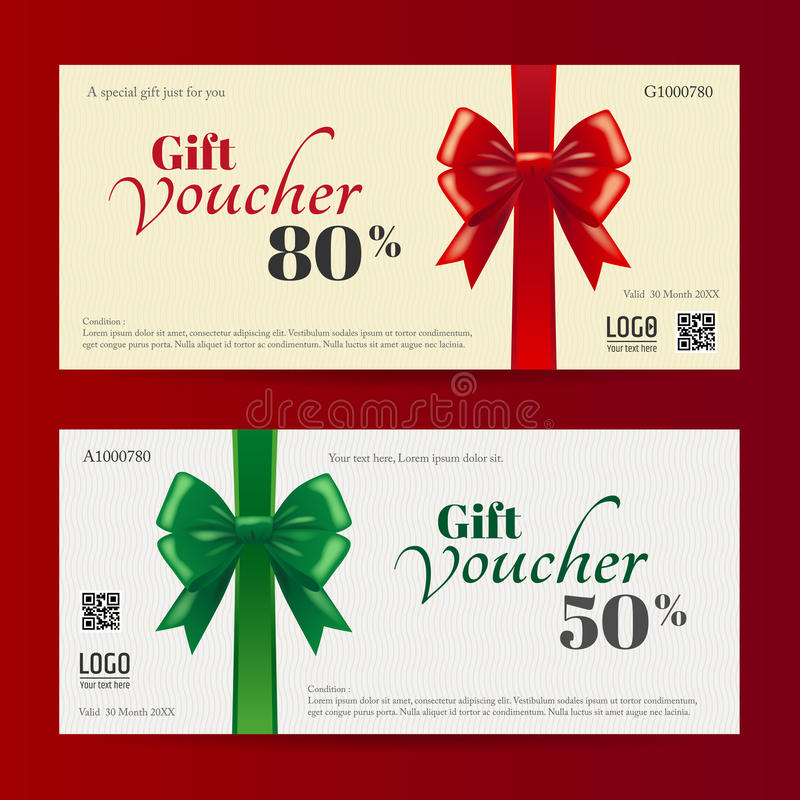 Elegant Christmas Gift Card Or Gift Voucher Template Stock Vector - christmas gift vouchers templates