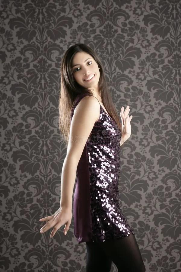 Indian Girl Wallpaper Free Download Elegant Fashion Woman Sequins Dress Wallpaper Stock Image