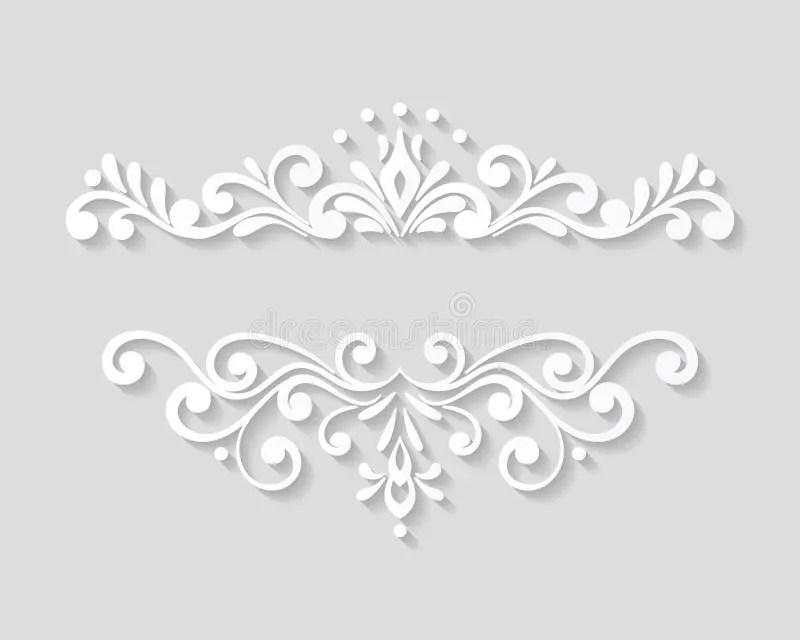 Elegant Floral Page Border Template Stock Illustration