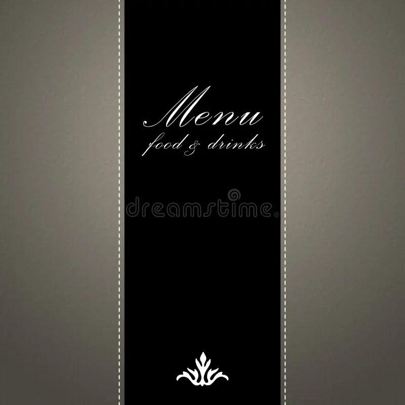 Elegant Restaurant Menu Design Stock Illustration - Illustration of