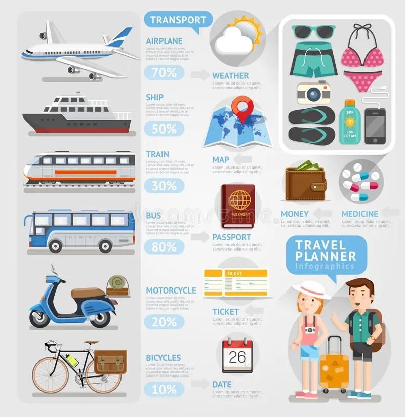 Elemento Del Infographics Del Planificador Del Viaje Ilustración del