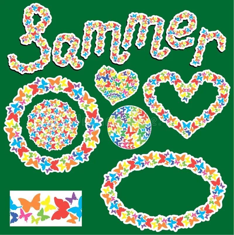 Elements For Summer Or Spring Design Stock Vector - Illustration of - word design frames