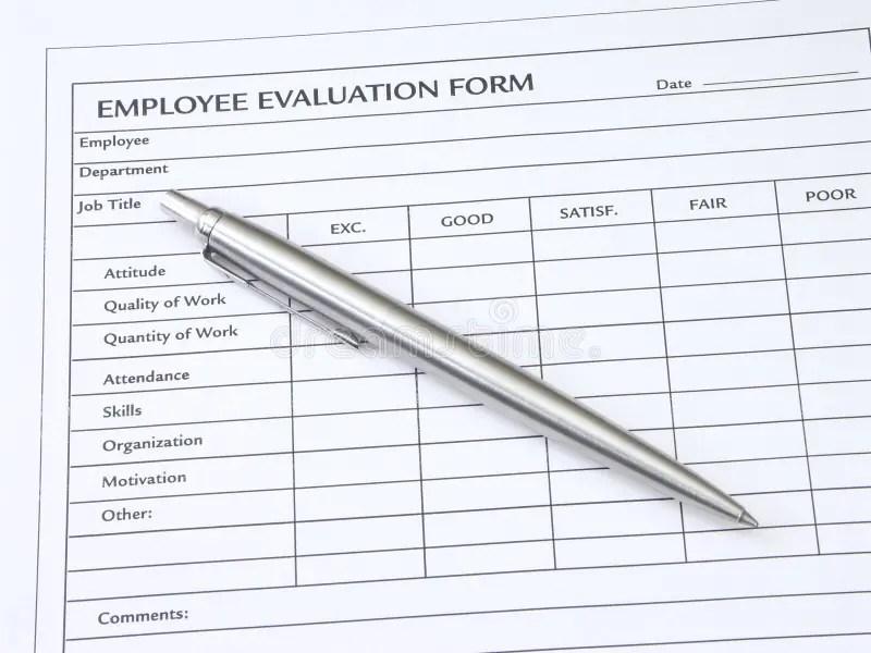 Employee Evaluation Form stock image Image of commerce - 1146921