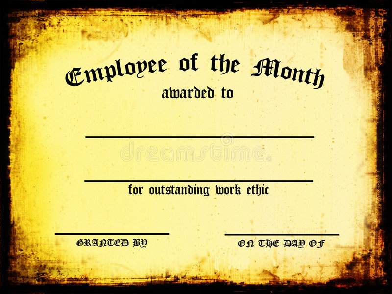 Employee of the Month stock illustration Illustration of scroll - fresh free employee of the month certificates