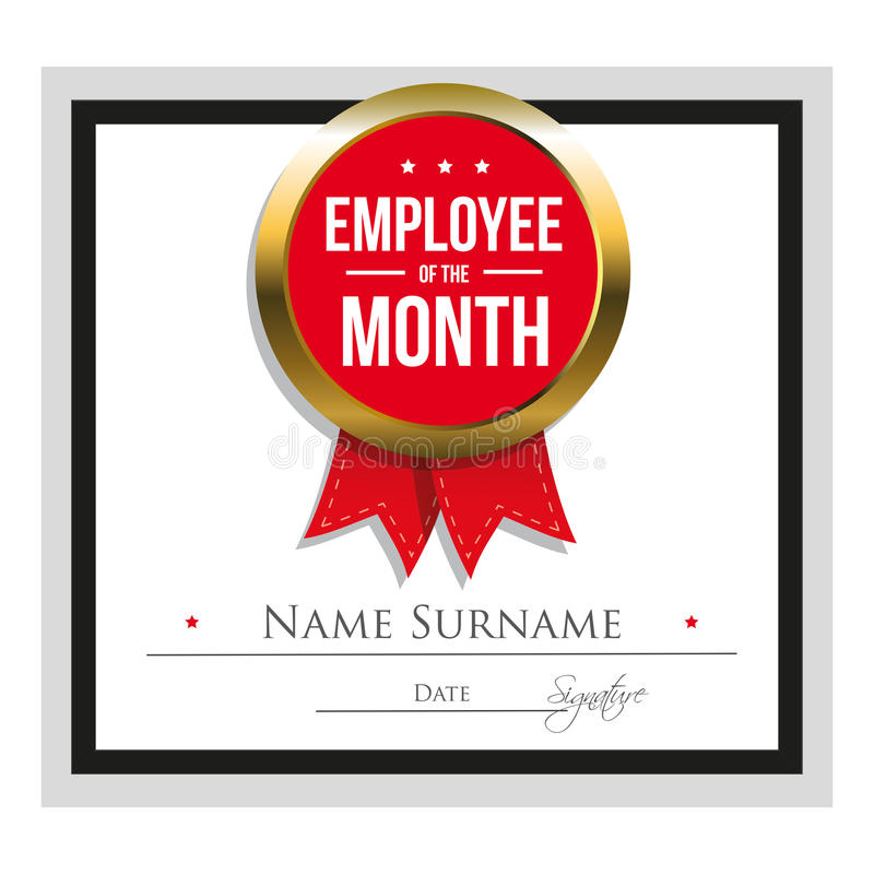 employee of the month word template