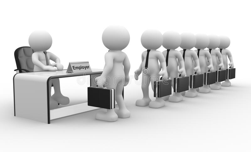 Employer stock illustration Illustration of businessman - 23135498
