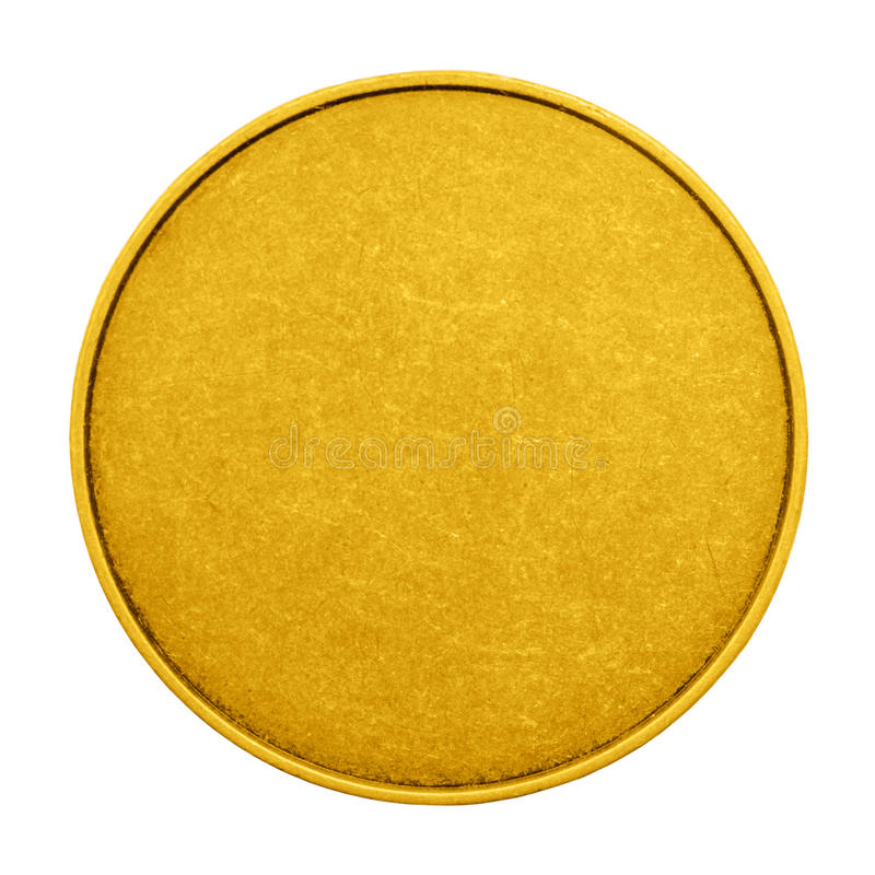 Empty Coin Game Color Medal Stock Photo - Image of golden, income - gold medal templates