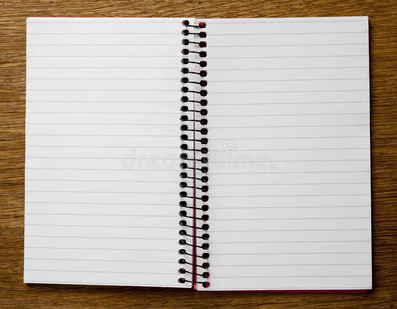Empty Lined Paper Book stock photo Image of binder, book - 31575406