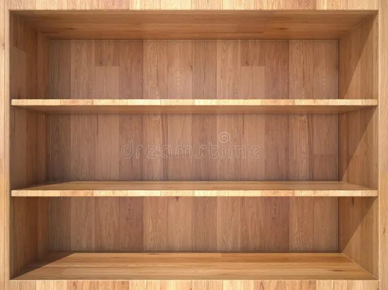 3d Shelves Wallpaper Empty Wooden Shelf Stock Image Image Of Background Store